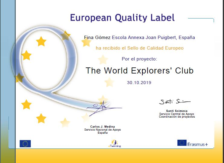 Fina World explorers European label