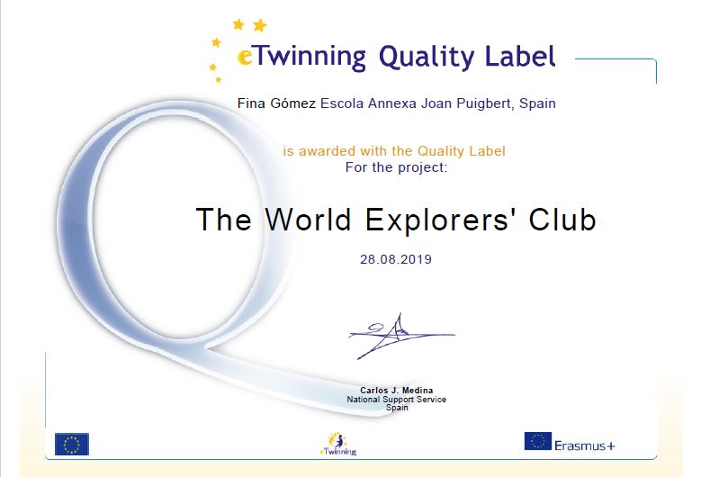 Fina World explorers National quality label
