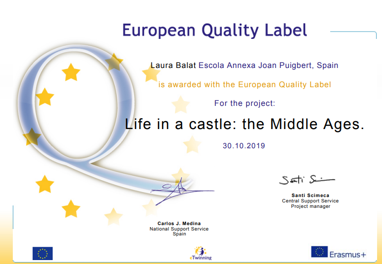 Laura European label Life in a castle