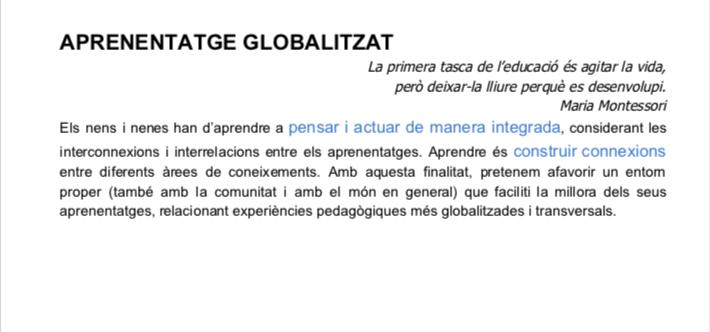 APRENENTATGE GLOBALITZAT