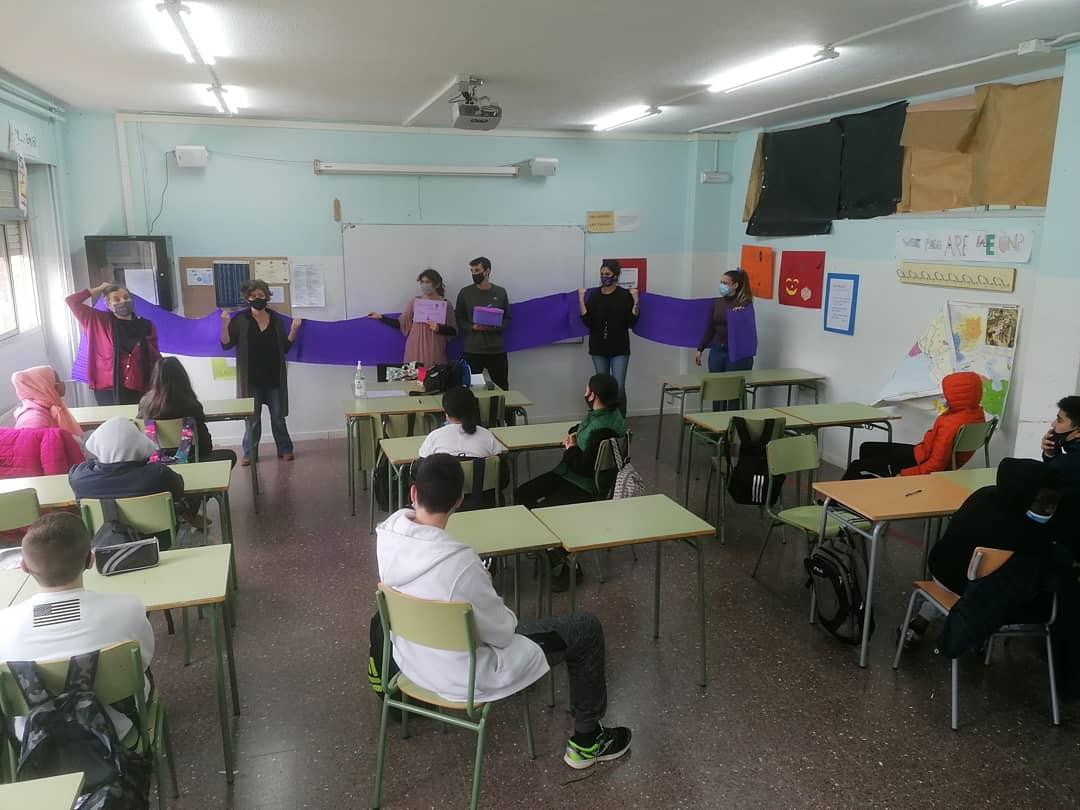 Institut Agustí Serra, 8M, feminisme