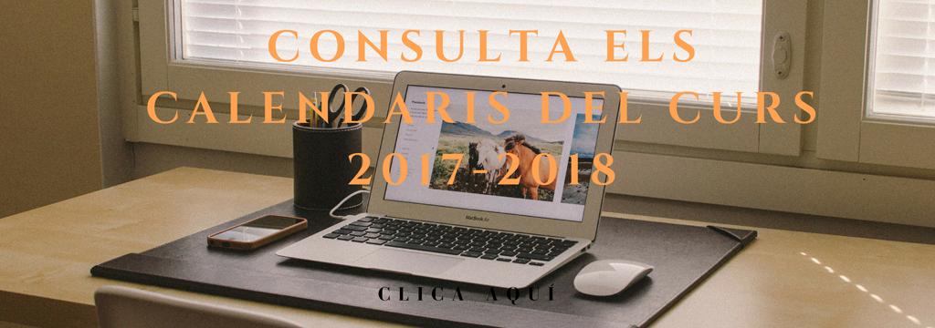 Calendaris curs 2017-2018