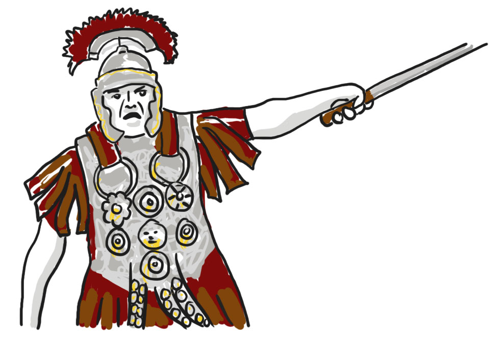 Un soldat de l'imperi romà lluitant