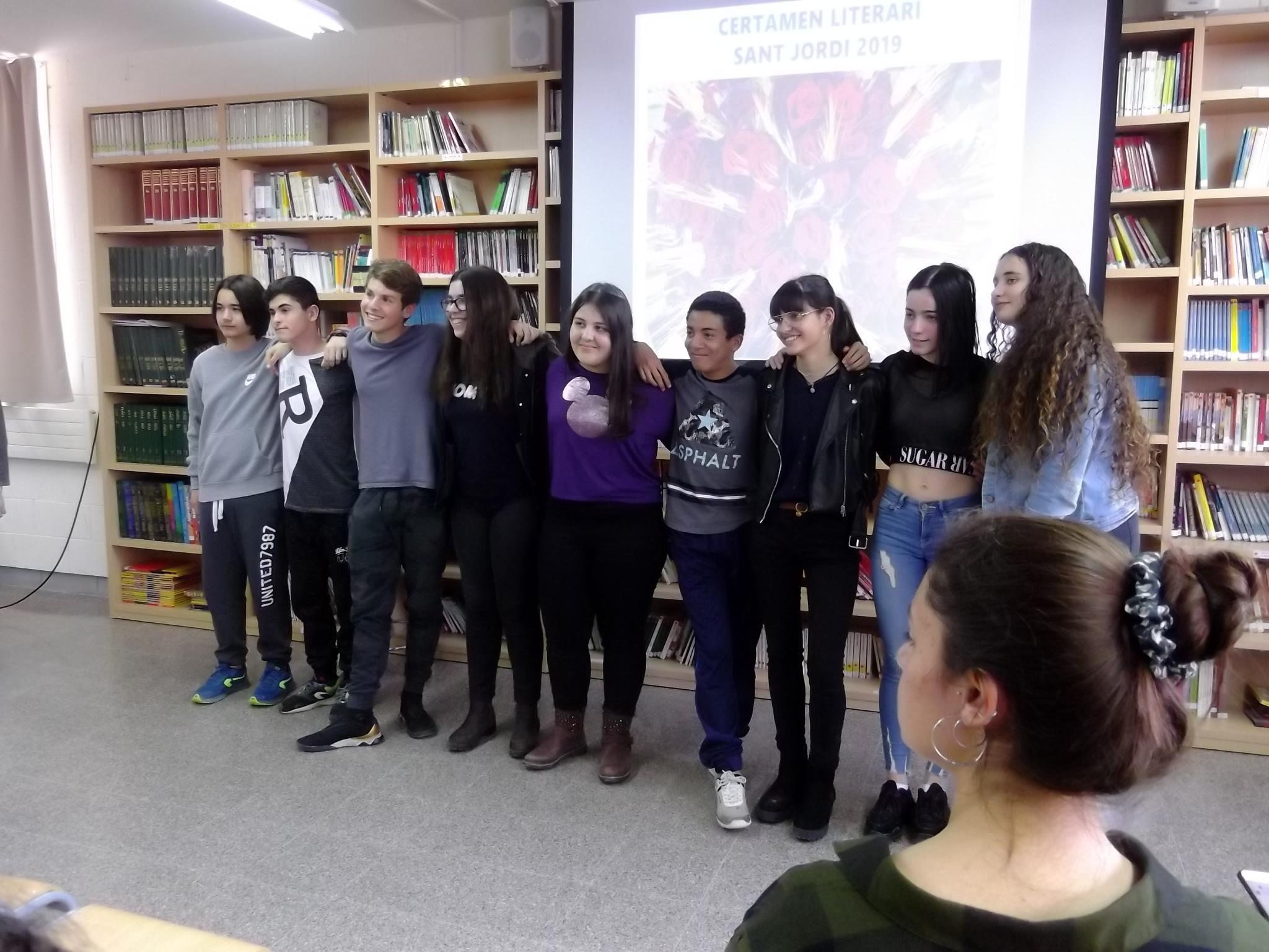 Alumnes que van fer l'acompanyament musical del certamen