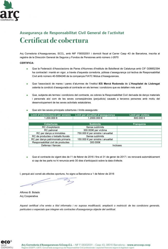 Microsoft Word - Certificat de cobertura RC FAPAES
