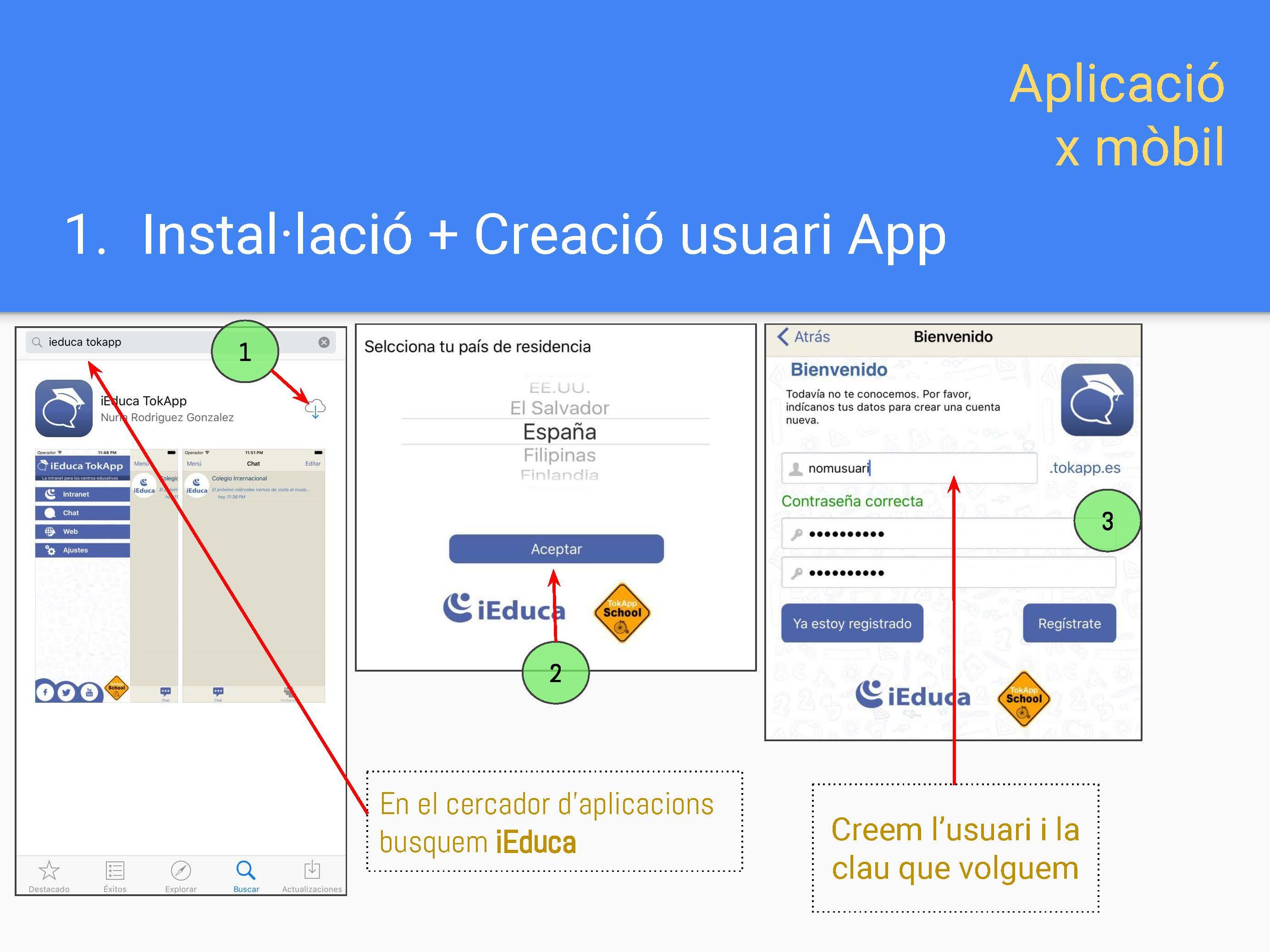 Instal·lació App + Alta usuari