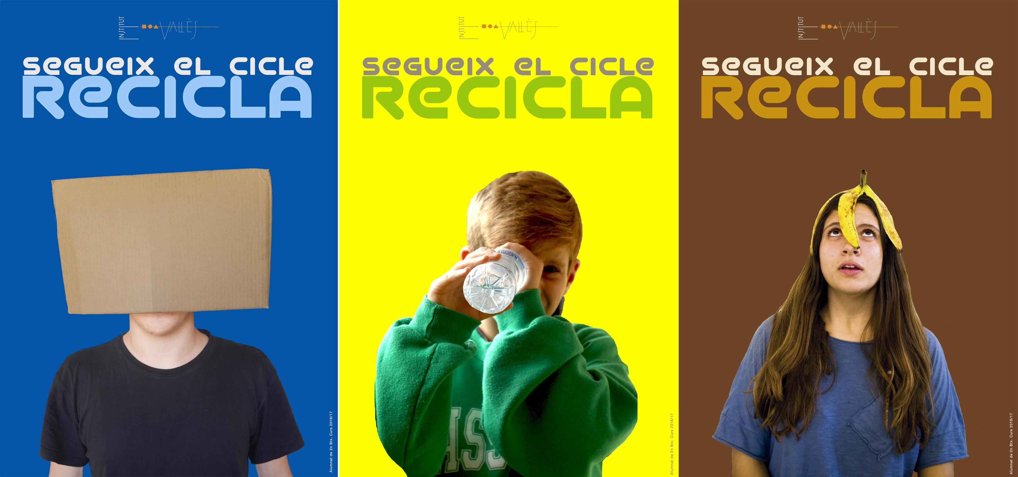 3 cartells recicla
